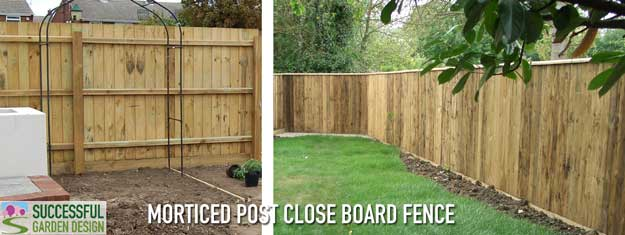 Morticed-post-close-board-fence