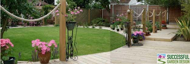 Transforming a bland square shape back garden - Case study ...