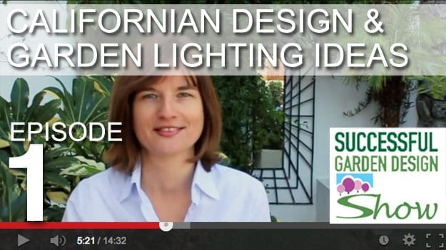 [DESIGN SHOW 1] Californian garden design plan and how to place feature lighting