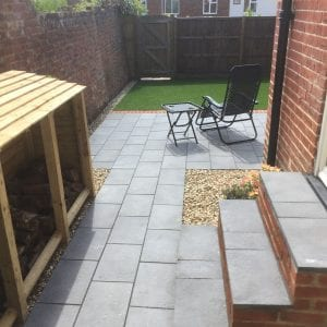 Bradstone Aged Riven - Patio Pack - Dark Grey - 3600x2700