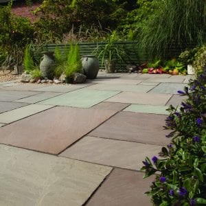 Bradstone Blended Natural Sandstone - Paver - Imperial Green - 600x900
