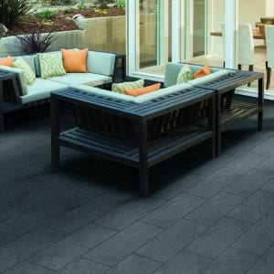 Bradstone Mode Profiled - Paver - Graphite - 600x600