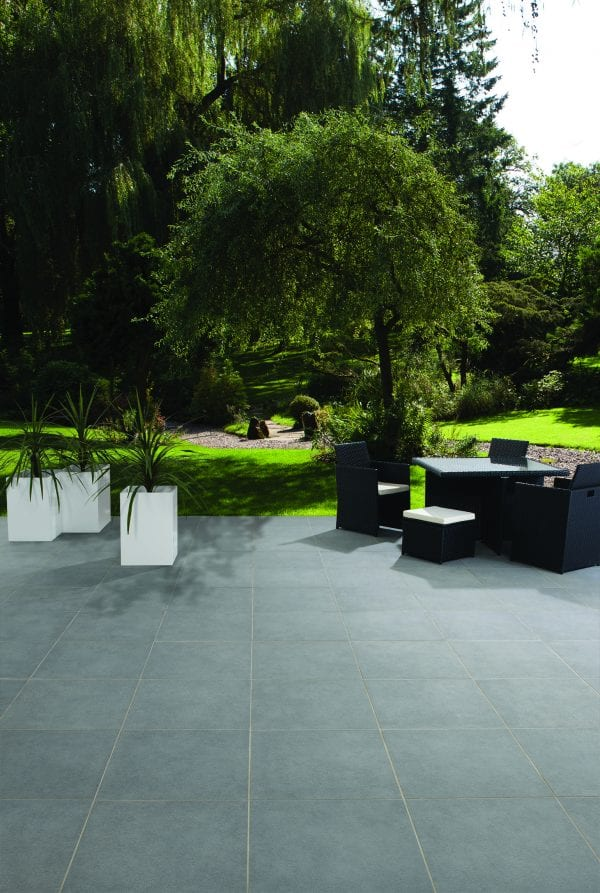 Bradstone Mode Textured - Paver - Dark Grey - 600x600