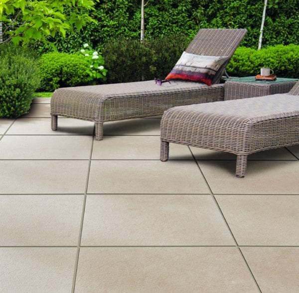 Bradstone Mode Textured - Paver - Shell - 600x600