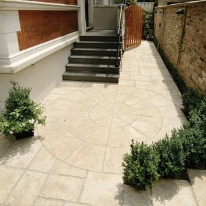 Bradstone Old Town - Circular Paving Outer - Weathered Limestone - 4000diam