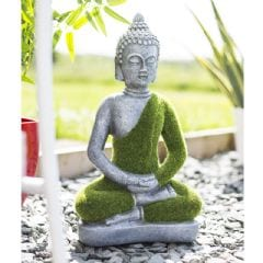 La Hacienda Flocked Buddha Garden Ornament