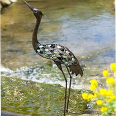 La Hacienda Metal Heron Garden Ornament