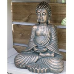 La Hacienda Seated Buddha Garden Ornament - Large