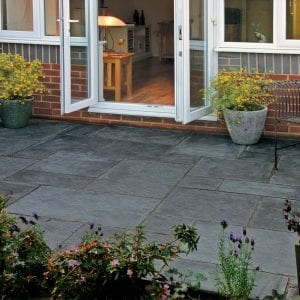 Simply Paving Limestone in Midnight Patio Pack