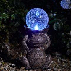 Smart Garden Gazing Frog Solar Figurine