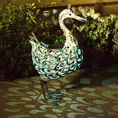 Smart Garden Solar Metal Duck Light