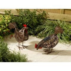 Smart Garden Solar Metal Hen Light - 2 Pack