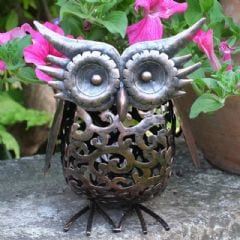 Smart Garden Solar Metal Scroll Owl Light
