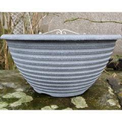Greenfingers Striation Bowl Planter - Aged Black