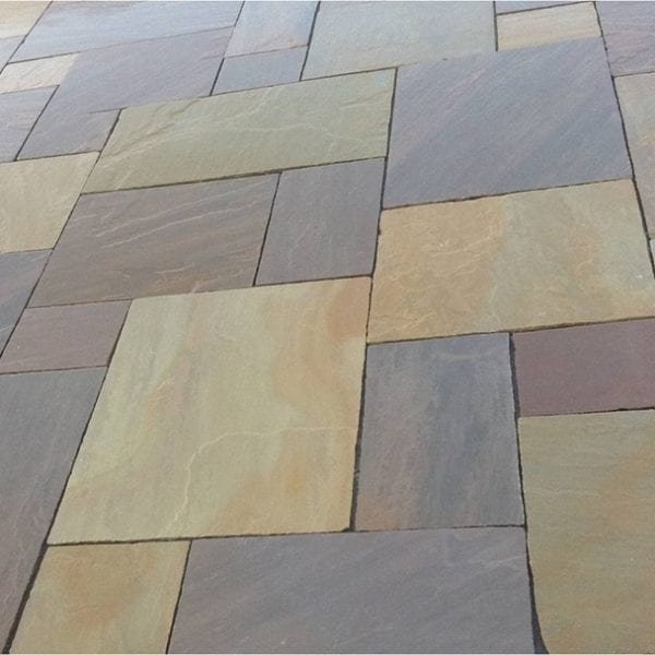 Simply Paving Natural Sandstone Paving in Buff Blend
